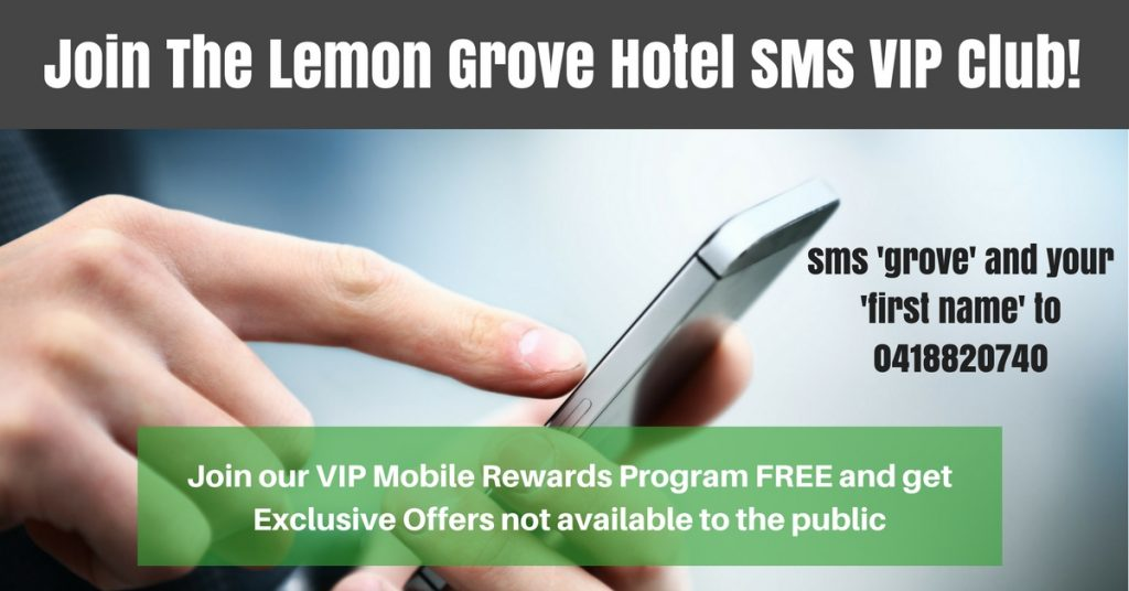 join the lemon grove hotel sms vip club